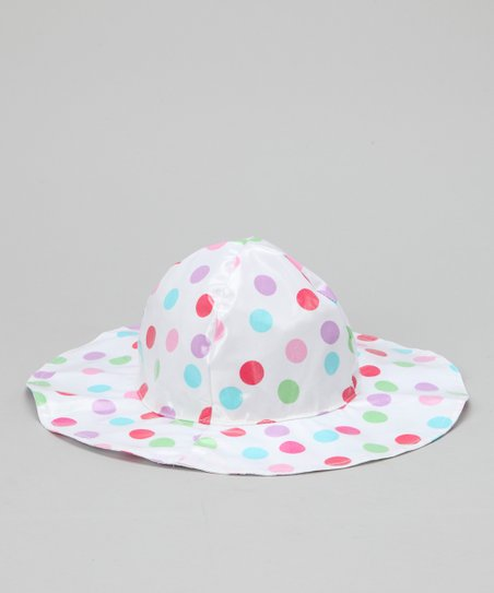 White Polka Dot Rain Hat