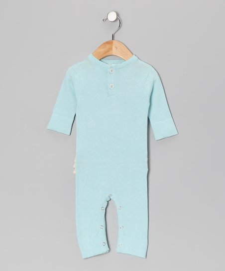 Little Bird Blue Ruffle Bum Organic Playsuit - Infant