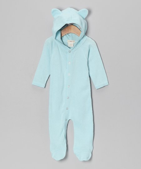 Little Bird Blue Bear Organic Footie - Infant