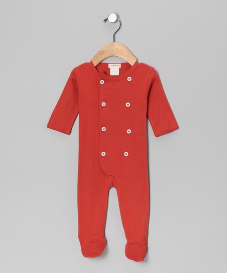 Rust Organic Footie - Infant