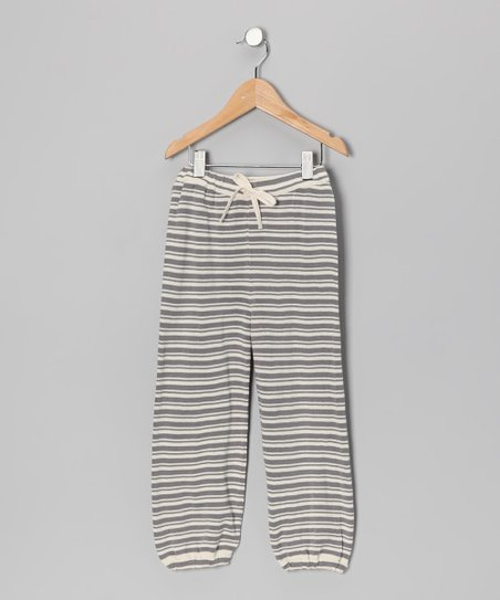 Gray Stripe Organic Sweatpants - Infant, Toddler & Girls