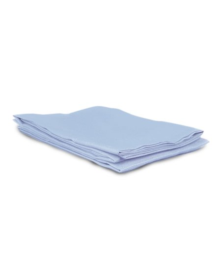 Blue Sateen King Pillowcase - Set of Two
