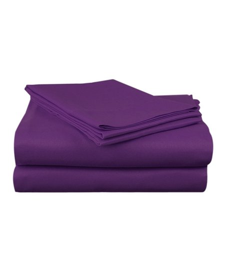 Purple Sateen Sheet Set