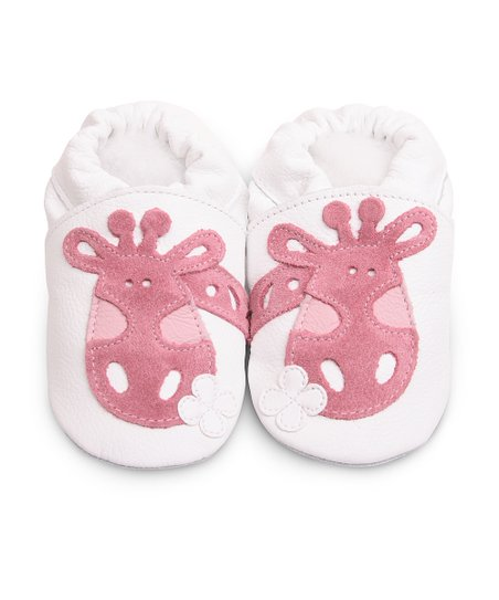 White &amp; Pink Giraffe Bootie