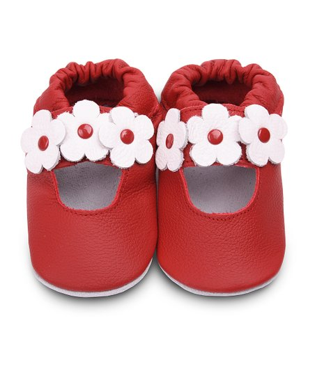 Red Flower Bootie