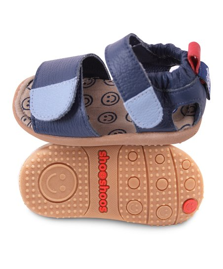 Navy &amp; Blue Smiley Sandal