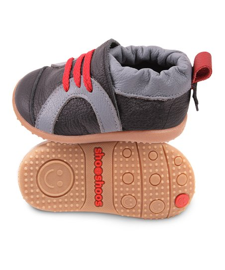 Black &amp; Red Sport Smiley Sneaker