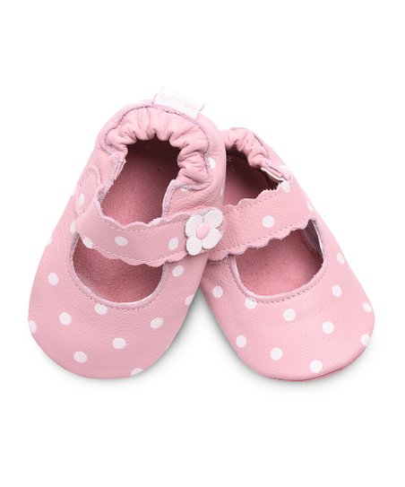 Pink Polka Dot Flower Flat