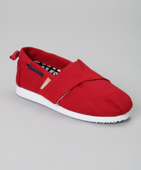 Red Voyage Slip-On Boat Shoe