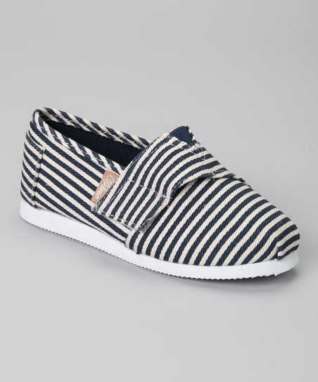 Navy & Ivory Stripe Voyage Classic Slip-On Shoe