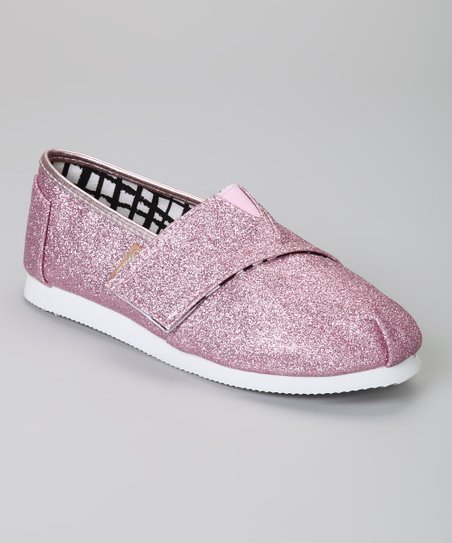 Pink Voyage Glitter Slip-On Shoe