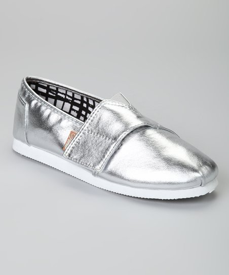 Silver Metallic Voyage Slip-On Shoe