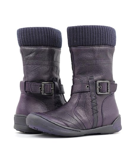 Purple Buckle Boot