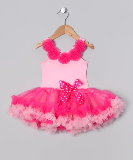 Pink Rosette Tutu Dress - Toddler & Girls