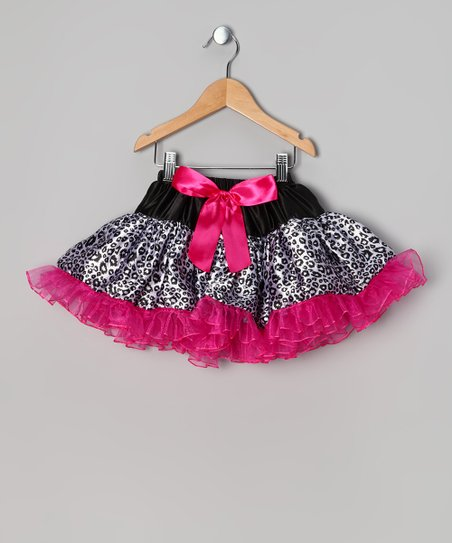 Pink & Black Leopard Pettiskirt - Infant, Toddler & Girls