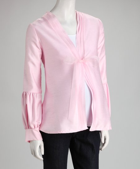 Pink Bow Maternity Jacket