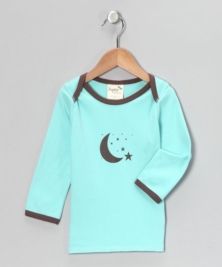 Seaside Aqua Moon Organic Tee - Infant & Toddler
