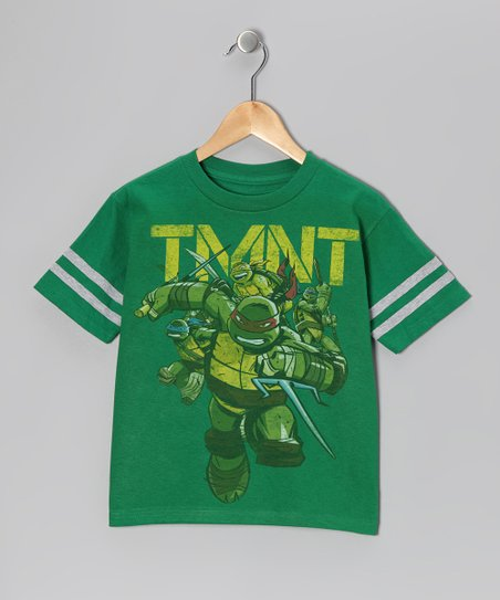 Green 'TMNT' Fighting Tee - Kids