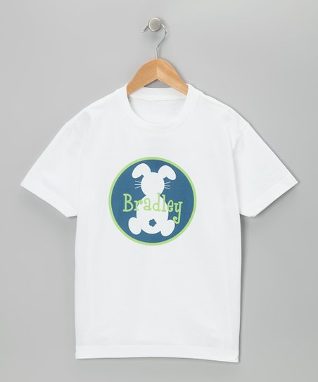 Swag Blue Personalized Bunny Boy Tee - Infant, Toddler & Boys