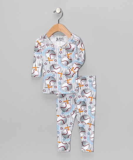 Gray Baseball Pajama Set - Infant