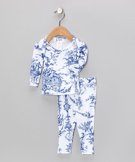 Blue Toile Pajama Set - Infant