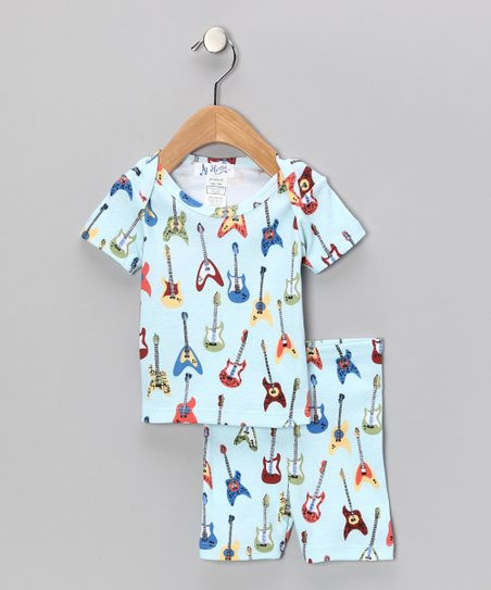 Blue Guitar Pajama Set - Infant