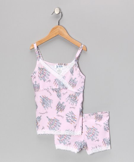 Pink Chandelier Pajama Set - Girls
