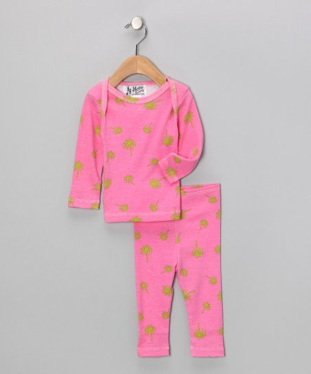 Pink Palm Pajama Set - Infant