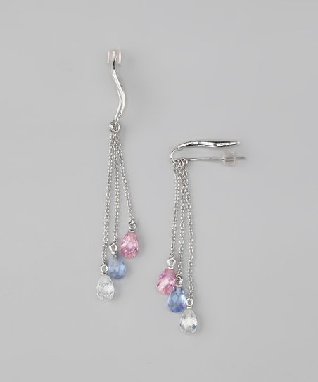 Silver Classic Ear Pin Earrings &amp; Enhancer Charms