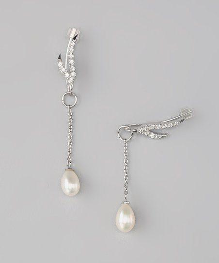 Pearl Branches Ear Pin Earrings & Enhancer Charms