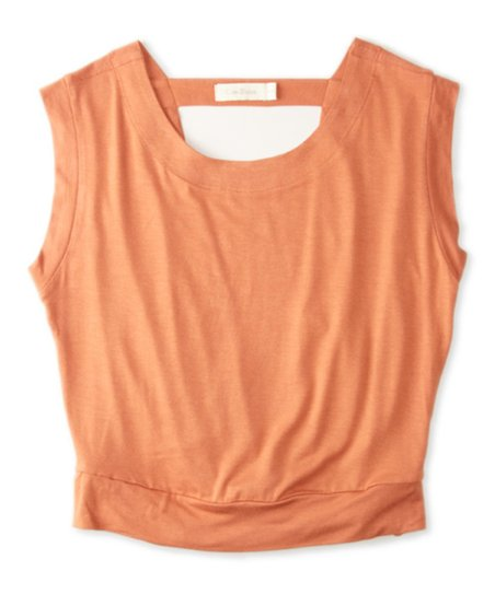 Rust Drape-Back Sleeveless Top