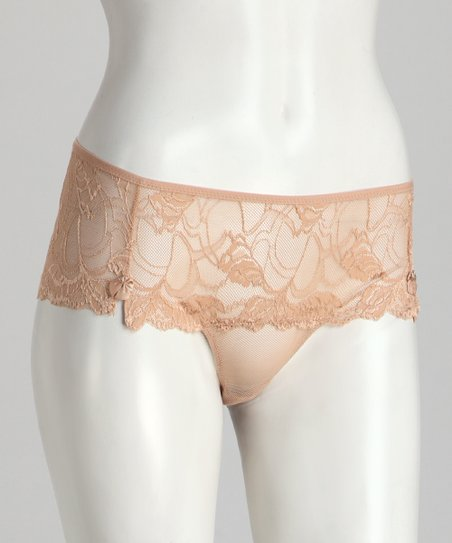 Nude Cheeky Lace Sheer Panty - Women & Plus