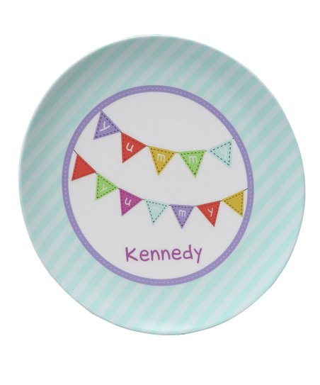 Mint Yummy Yummy Personalized Plate