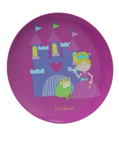 Purple Fairy Princess Personalized Plate