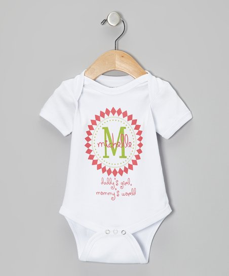 White 'Daddy's Girl' Personalized Bodysuit - Infant