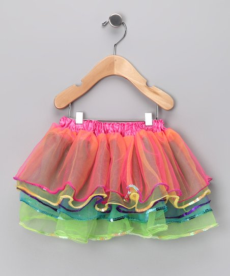 Rainbow Sequin Tutu - Toddler & Girls