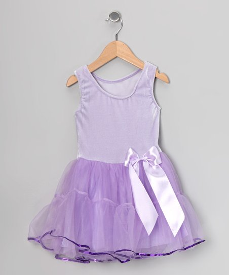 Lilac Velvet Tutu Dress - Girls