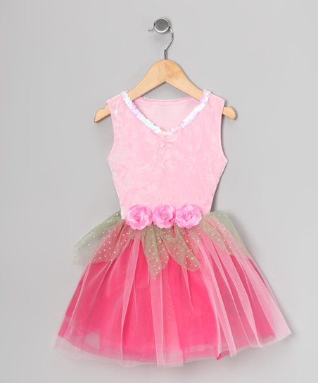 Pink Sequin Velvet Dress - Toddler & Girls