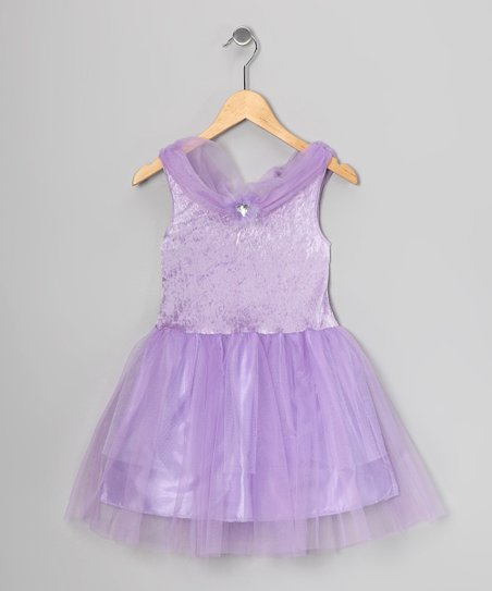 Lilac Velvet Princess Dress - Toddler & Girls