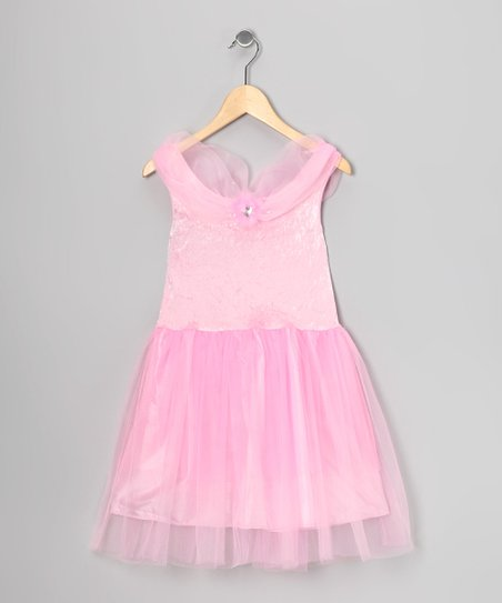 Pink Velvet Princess Dress - Toddler & Girls