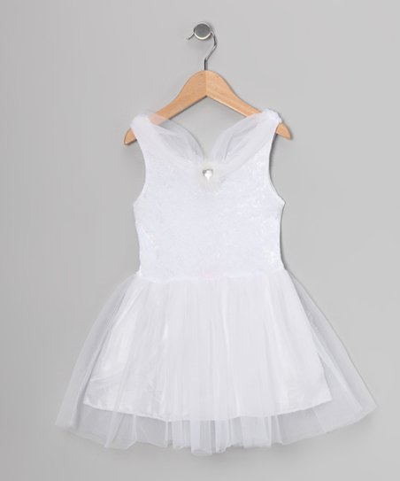 White Velvet Princess Dress - Toddler &amp; Girls