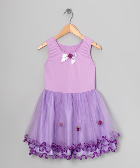 Lilac Curly Ruffle Dress - Toddler &amp; Girls