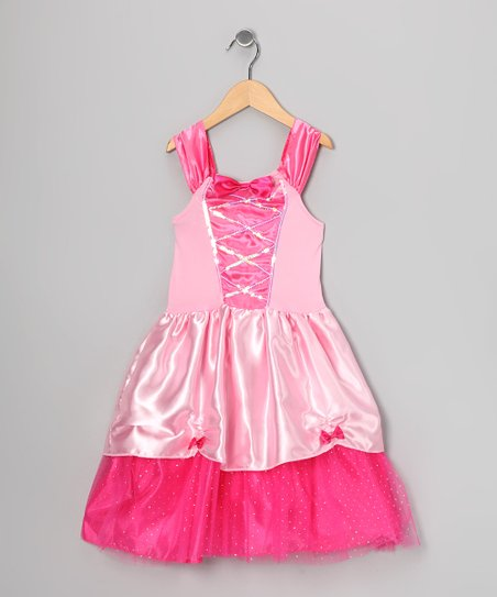 Pink Sequin Corset Dress - Toddler & Girls