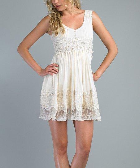 Ivory Lace Babydoll Dress