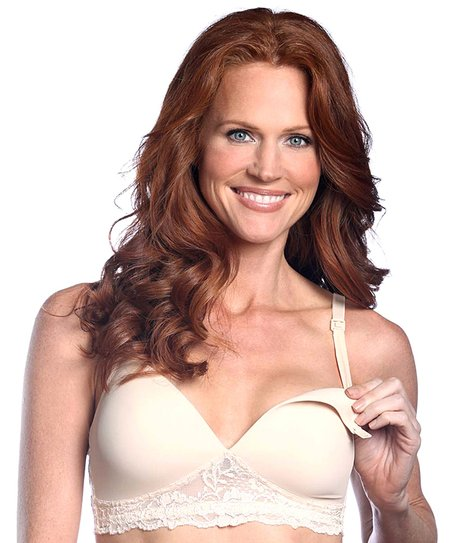 Nude Seamless Wireless Nursing Bra - Women & Plus