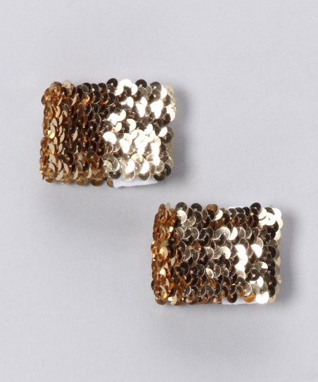 Gold Sparkle Blaster Cuffs