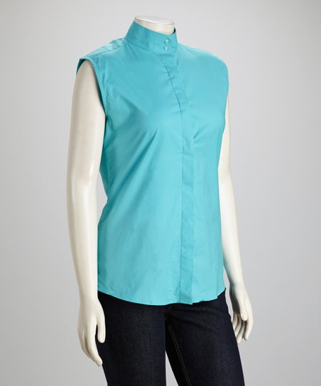 Aqua Elegance Sleeveless Show Shirt - Women