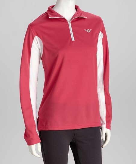 Hot Pink Ventilated Pullover - Women & Plus