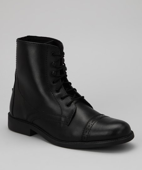 Black Laced Starter Paddock Boot