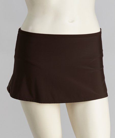 Brown Skirted Bikini Bottoms - Women & Plus